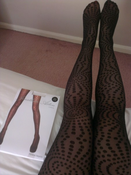 Jonathan Aston Tienga black tights