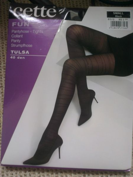 "Cette ""Tulsa"" Black Tights from mystockings"